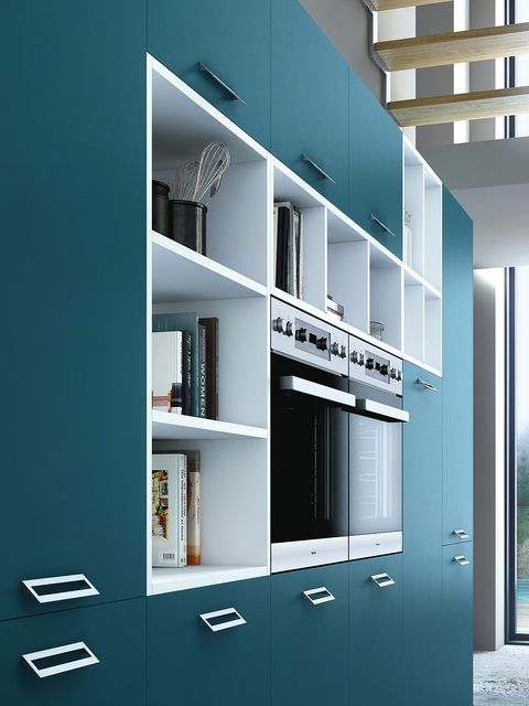 Architecture, Wall, Shelf, Shelving, Interior design, Fixture, Teal, Turquoise, Parallel, Rectangle,