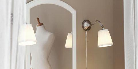 Interior design, Room, Tablecloth, Wall, Interior design, Light fixture, Lamp, Linens, Home accessories, Grey,
