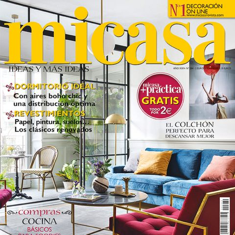 Magazine, Interior design, Furniture, Yellow, Room, Living room, Home, Font, Publication, Couch,