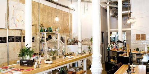 Lighting, Interior design, Food, Table, Produce, Leaf vegetable, Furniture, Vegetable, Ingredient, Interior design,