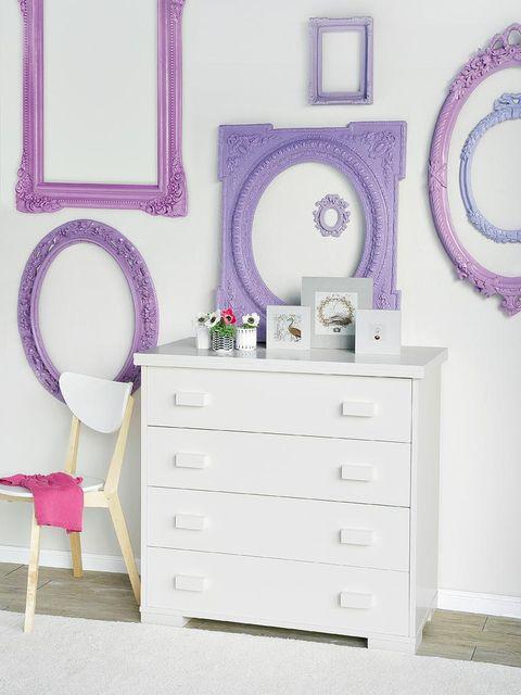 Blue, Room, Green, Drawer, Purple, Chest of drawers, Lavender, Furniture, Interior design, White,