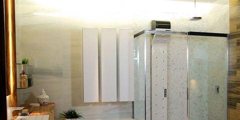Lighting, Wall, Floor, Glass, Interior design, Fixture, Light fixture, Houseplant, Interior design, Transparent material,