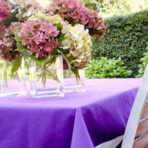 Tablecloth, Petal, Bouquet, Flower, Purple, Pink, Table, Linens, Cut flowers, Furniture,