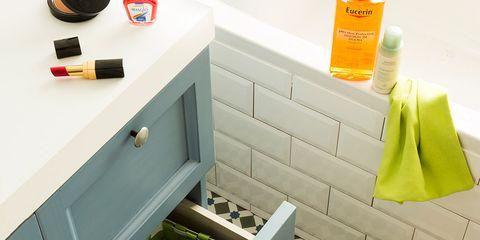 Room, Shelf, Furniture, Drawer, Toy, Table, Bathroom, Shelving, Sink, Interior design,