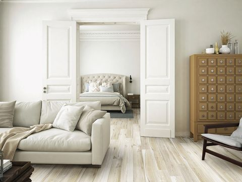 Furniture, Living room, Room, Floor, Interior design, Property, Wood flooring, Couch, Wall, Flooring,