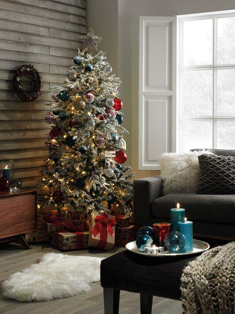 Christmas tree, Christmas decoration, Christmas, Tree, Christmas ornament, Room, Home, Living room, Interior design, Interior design,