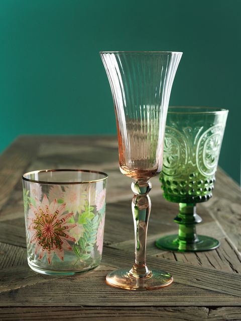 Green, Glass, Drinkware, Drink, Stemware, Tableware, Barware, Champagne stemware, Tumbler, Wine glass,