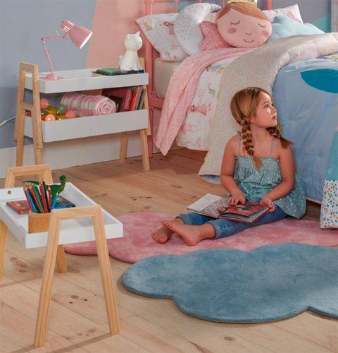 Pink, Room, Furniture, Floor, Table, Toy, Play, Child, Flooring, Interior design,