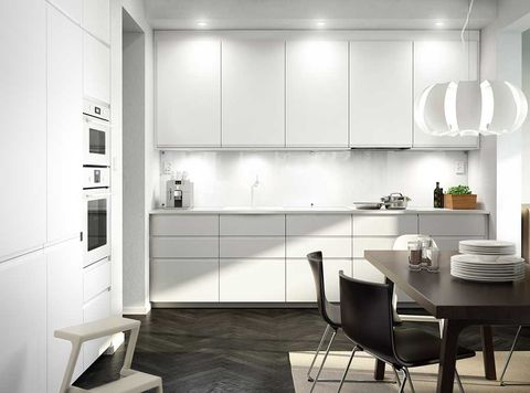 Product, Floor, Interior design, Room, Flooring, White, Furniture, Wall, Table, Black-and-white,