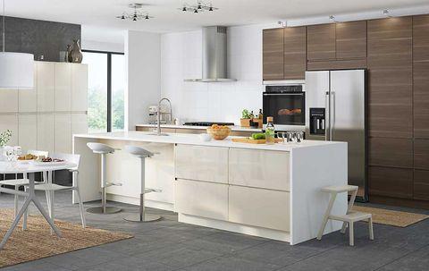 Room, Floor, Property, Interior design, Flooring, White, Furniture, Countertop, Wall, Ceiling,
