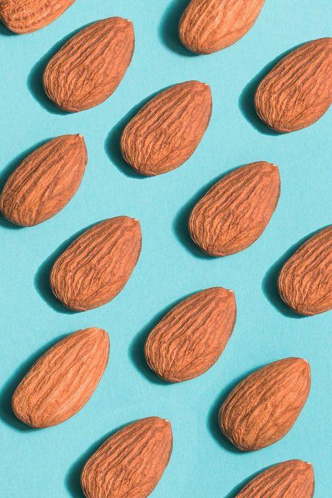 Almond, Apricot kernel, Leaf, Plant, Pattern, Superfood, Prunus, Food,