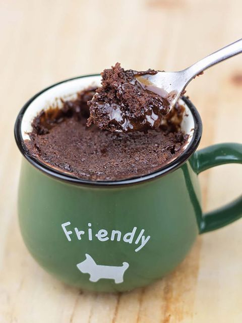 Brownie en una taza