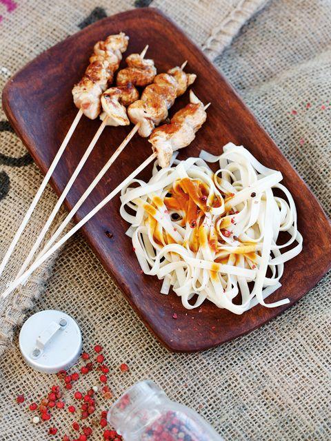 Dish, Food, Cuisine, Ingredient, Comfort food, Produce, Recipe, Satay, Shirataki noodles, Noodle,