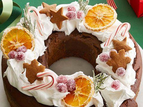 tarta corona de navidad