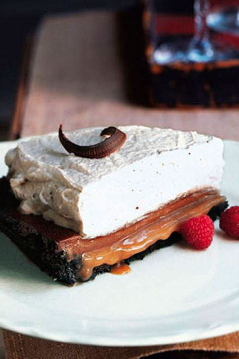 tarta de chocolate con crema de caramelo