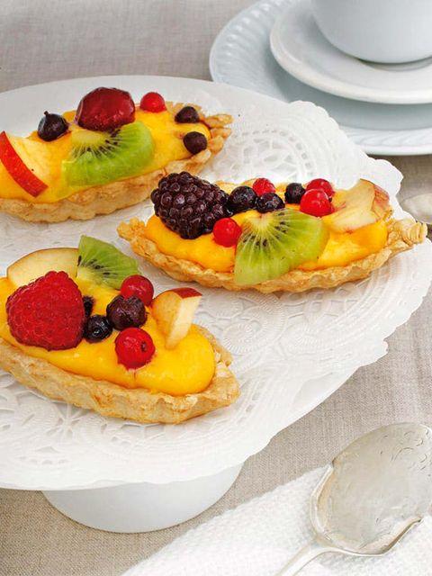 Barquitas de hojaldre y frutas