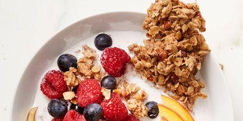 Dish, Food, Cuisine, Breakfast, Meal, Ingredient, Granola, Dessert, Brunch, Produce,