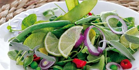 ensalada de tirabeques y judías verdes