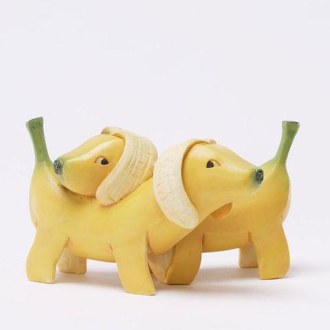 Animal figure, Yellow, Toy, Figurine, Elephant, Puppy,