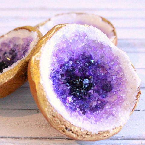 Food, Purple, Amethyst, Dish, Baked goods, Fashion accessory, Cuisine, Jewellery, Produce, Gemstone,
