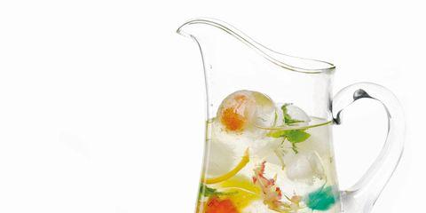 Liquid, Glass, Serveware, Drinkware, Still life photography, Dishware, Cocktail garnish, Produce, Artificial flower, Porcelain,