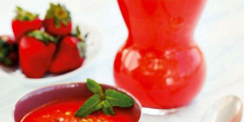 Food, Ingredient, Serveware, Red, Tableware, Condiment, Bowl, Dish, Spoon, Dishware,