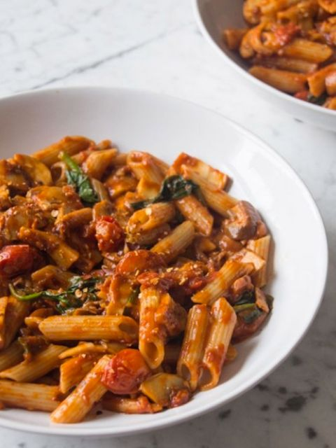 Pasta, Food, Cuisine, Penne, Dish, Recipe, Ingredient, Mostaccioli, Staple food, Produce,