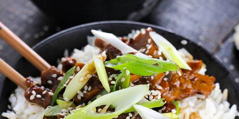 Food, Steamed rice, Rice, Cuisine, White rice, Dish, Ingredient, Recipe, Jasmine rice, Meat,