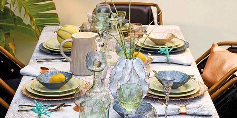 Serveware, Dishware, Tableware, Glass, Drinkware, Table, Stemware, Furniture, Tablecloth, Porcelain,