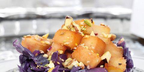 Food, Root vegetable, Purple, Recipe, Dishware, Serveware, Dish, Cuisine, Produce, Salad,