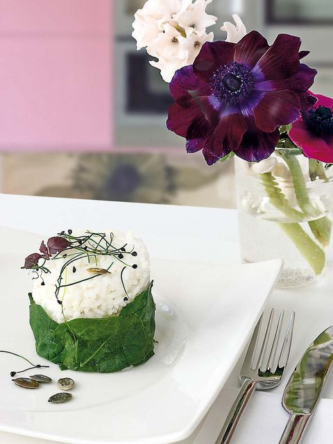 Food, Dish, Dessert, Cuisine, Semifreddo, Ingredient, Frozen dessert, Flower, Garnish, Plant,