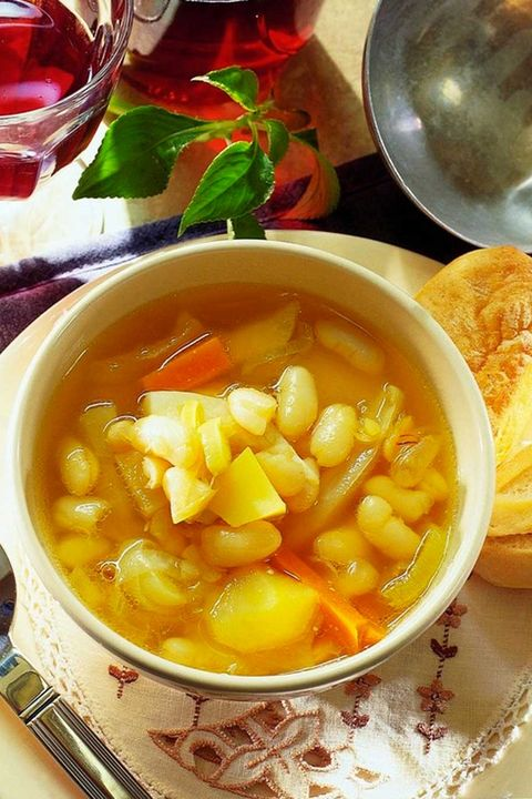 sopa de judías con hortalizas