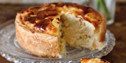 pastel de queso y coliflor