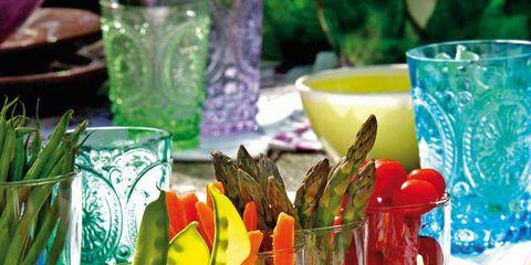 Food, Serveware, Dishware, Tableware, Produce, Ingredient, Drinkware, Garnish, Vegetable, Culinary art,