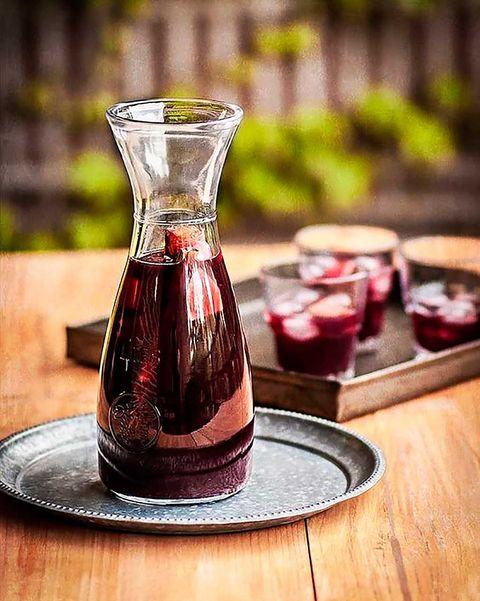 Sangría con vino moscatel
