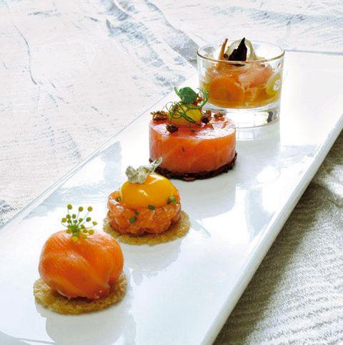 aperitivos de salmón