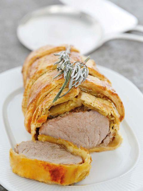 Dish, Food, Cuisine, Ingredient, Beef wellington, Baked goods, Pork loin, Produce, Staple food, Meatloaf,