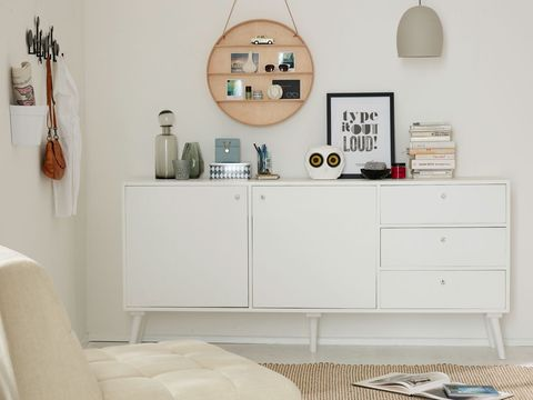 Room, Interior design, White, Wall, Drawer, Cabinetry, Grey, Chest of drawers, Beige, Material property,