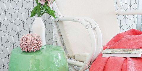 Flowerpot, Interior design, Vase, Peach, Watering can, Artificial flower, Flower Arranging, Cut flowers, Houseplant, Still life photography,