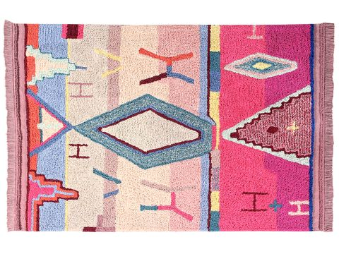 Line, Rug, Rectangle, Textile, Magenta, Patchwork, Pattern, Art,