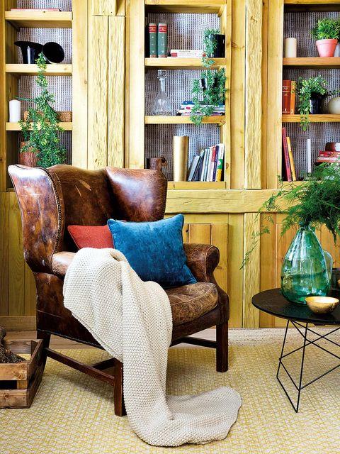Wood, Room, Interior design, Furniture, Shelf, Shelving, Interior design, Hardwood, Home, Teal,