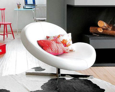 Product, Room, Interior design, Floor, Red, Furniture, Home, Interior design, Display device, Design,