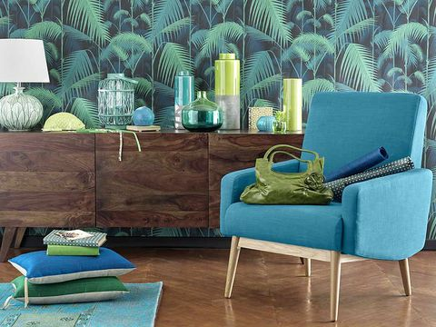 Blue, Green, Room, Interior design, Teal, Turquoise, Furniture, Aqua, Living room, Interior design,