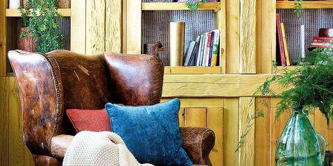 Blue, Wood, Room, Interior design, Furniture, Interior design, Floor, Hardwood, Living room, Home,