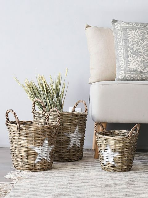 Basket, Wicker, Storage basket, Home accessories, Still life photography, Building material, Natural material, Armrest, Picnic basket,