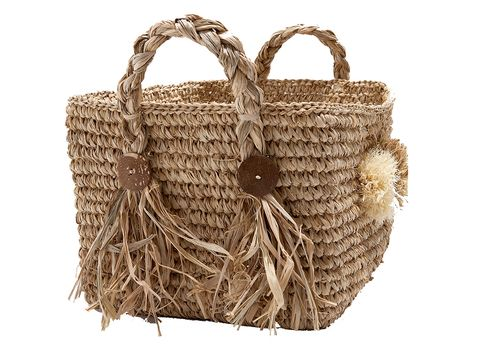 Brown, Wicker, Basket, Bag, Home accessories, Storage basket, Beige, Picnic basket, Shoulder bag, Present,