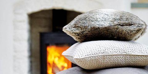 Textile, Grey, Beige, Natural material, Fur, Close-up, Gas, Sculpture, Heat, Hearth,