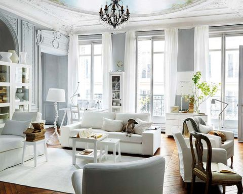Interior design, Room, Home, Living room, Floor, Furniture, White, Ceiling, Couch, Table,