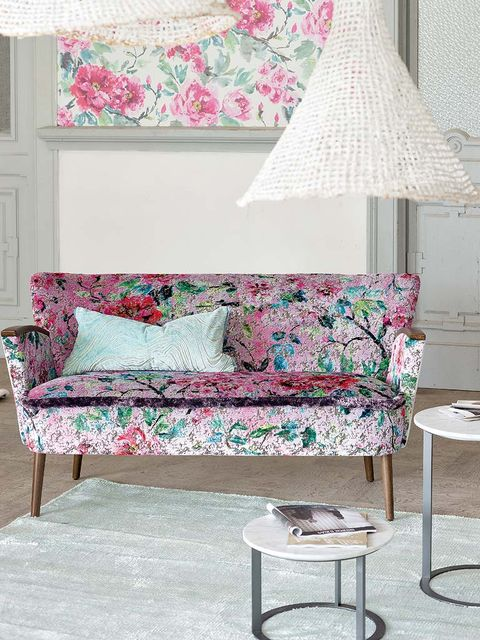 Blue, Room, Interior design, Green, Furniture, Wall, Textile, White, Home, Pink,