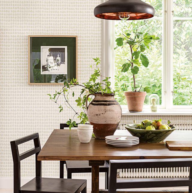 furniture, room, table, interior design, dining room, lighting, wall, floor, houseplant, home,